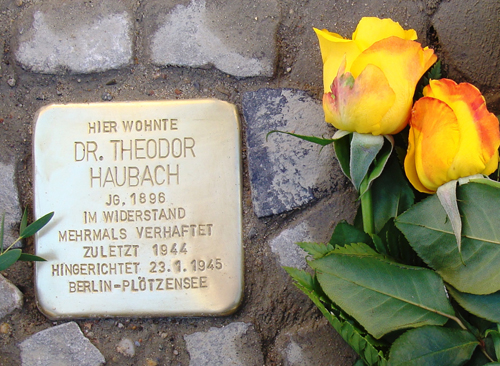 Stolperstein-Rundgang in Eichkamp am 9. September um 12:00 Uhr