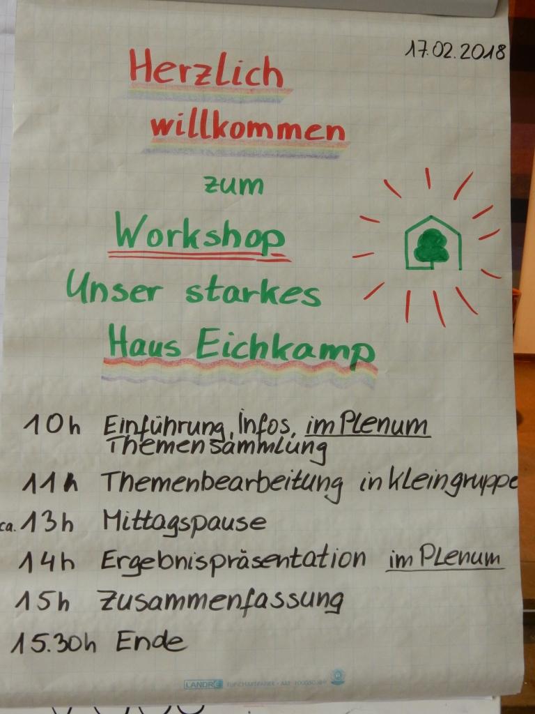 """Erfolgreicher Workshop """"Unser starkes Haus Eichkamp"""""""