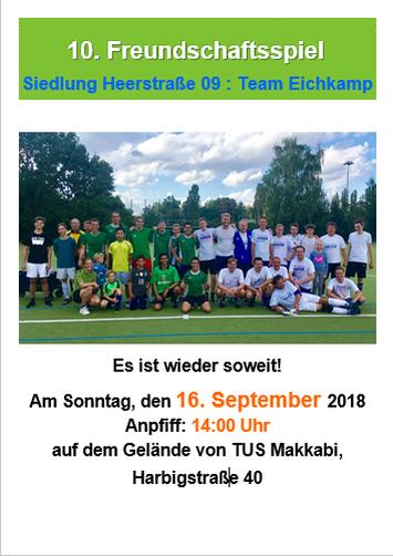 Fußball: 10. Freundschaftsspiel Heerstraße vs Eichkamp