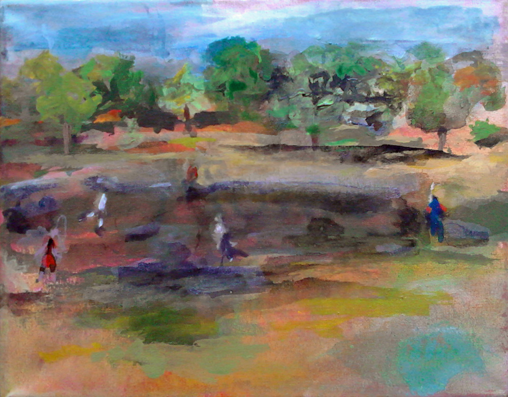 Ab Montag, 17.09.2018, Vernissage – Zeichnungen, Malerei auf Leinwand von Anja Rechenbach
