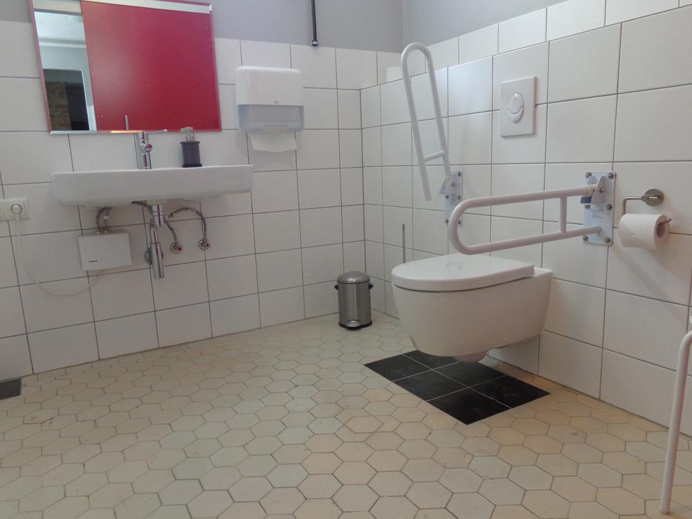 Behindertengerechte Toilette im Haus Eichkamp: erfolgreicher Umbau