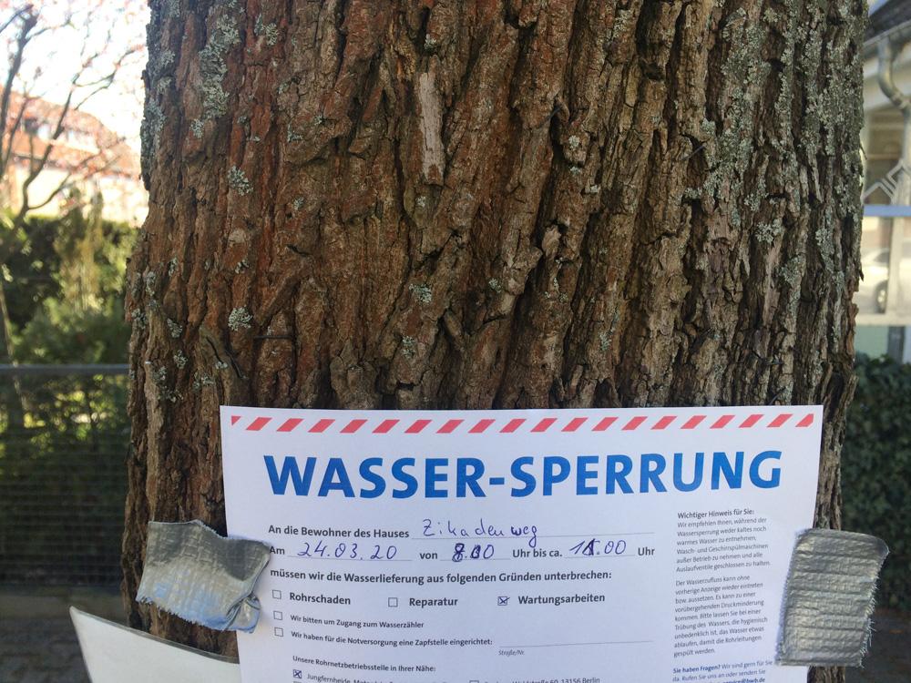 Haus Eichkamp: Erneuerung Wasseranschluss