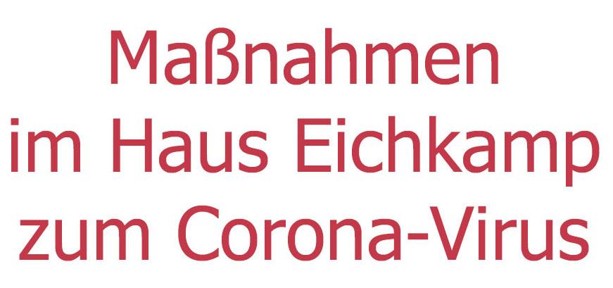 Absage von Veranstaltungen im Haus Eichkamp