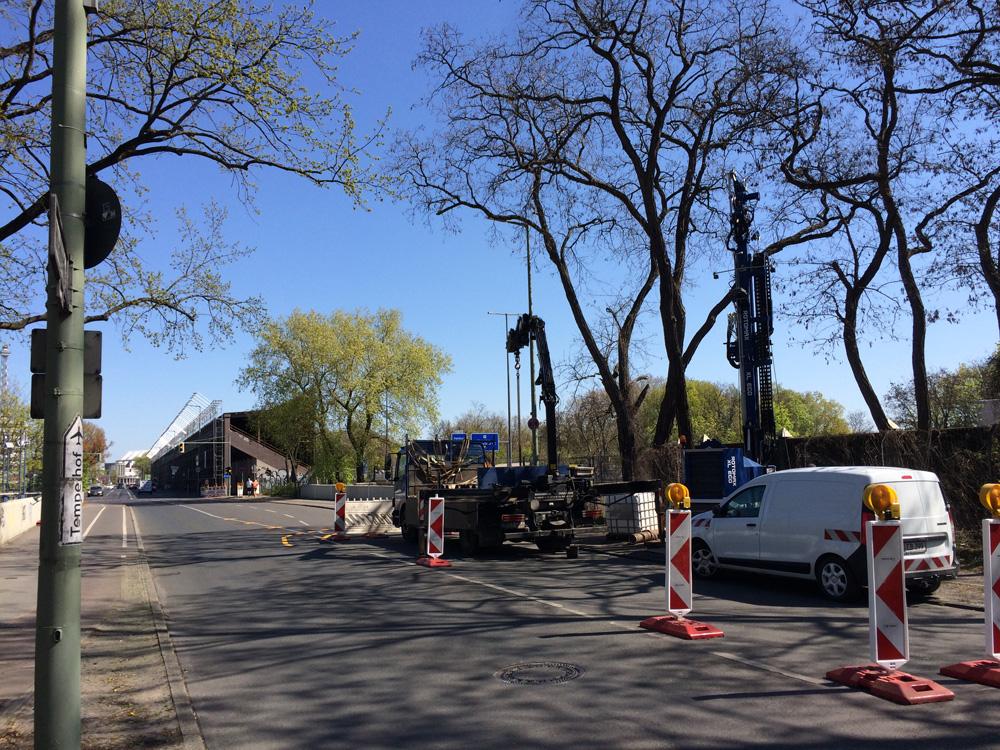 Umbau Autobahndreieck Funkturm: Vorbereitende Baumaßnahmen