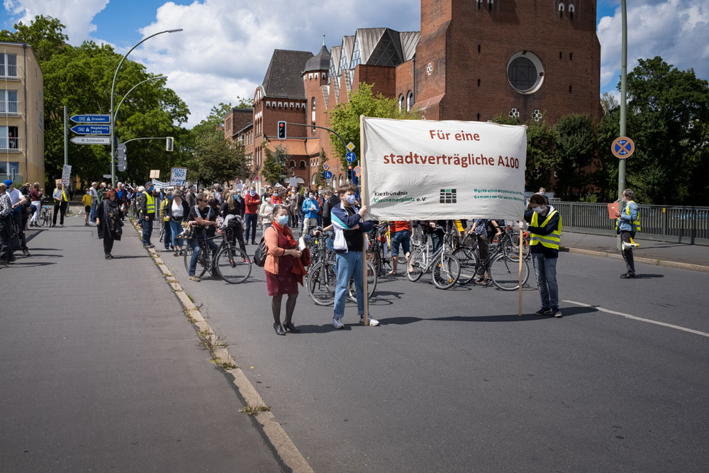 Umbau Dreieck Funkturm: Weitere Demonstration am 6. Juni – wegen Belastungen der Anschlussstelle Kaiserdamm