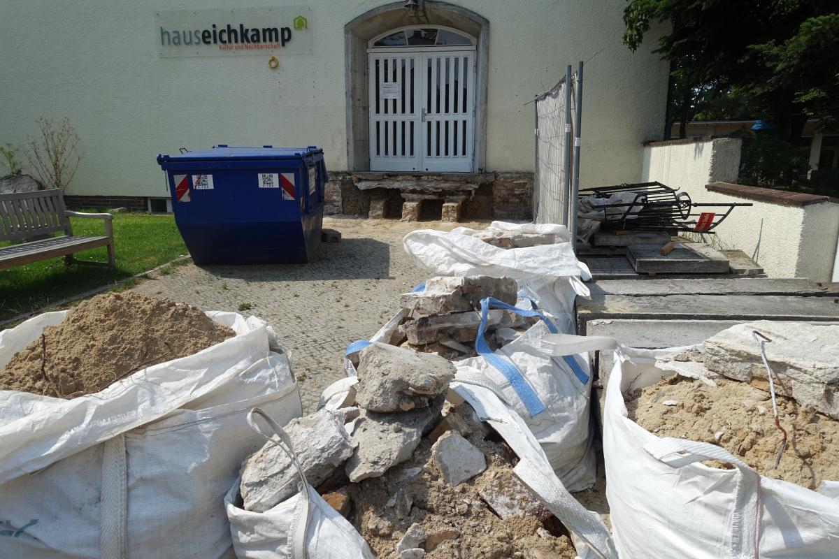 Baustelle Haus Eichkamp – Die Treppe ist weg