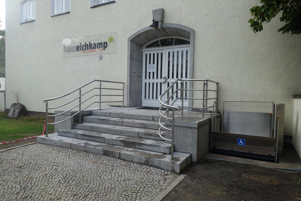 Eingangsbereich am Haus Eichkamp fertiggestellt