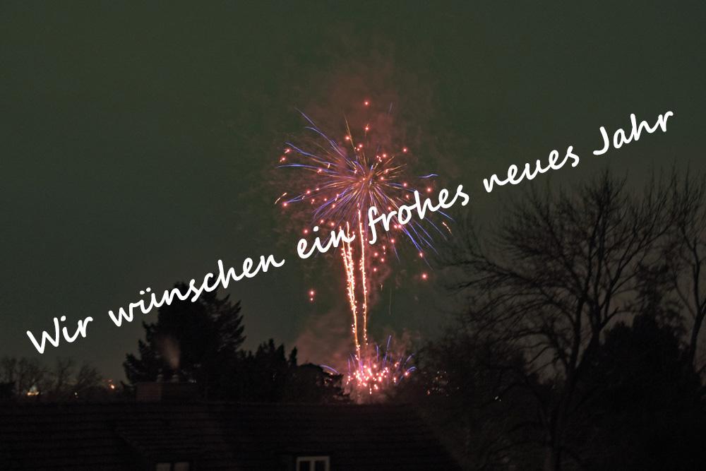 Wir wünschen ein frohes neues Jahr 2021