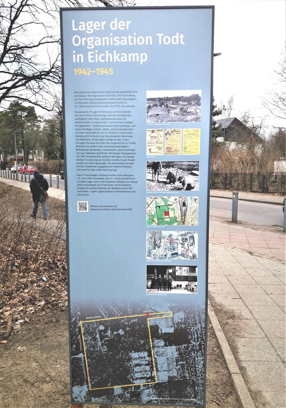 Gedenkstele Ecke Waldschulallee/Harbigstraße auch auf Webseite veröffentlicht
