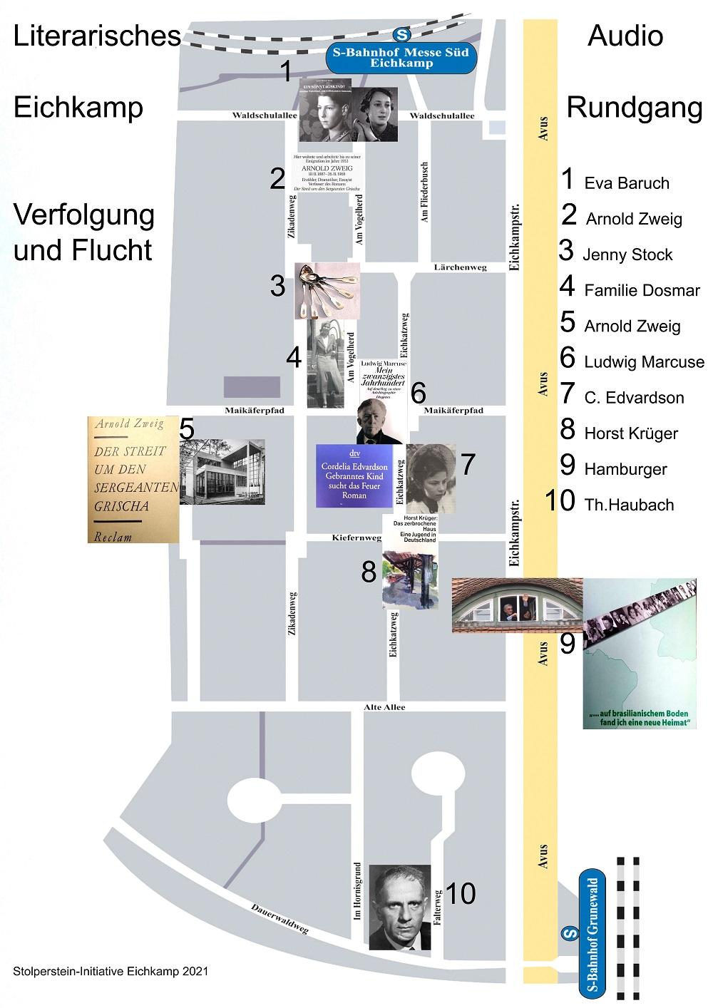 Stolpersteine in Eichkamp: Audiotour zum Fest 101 Jahre Eichkamp